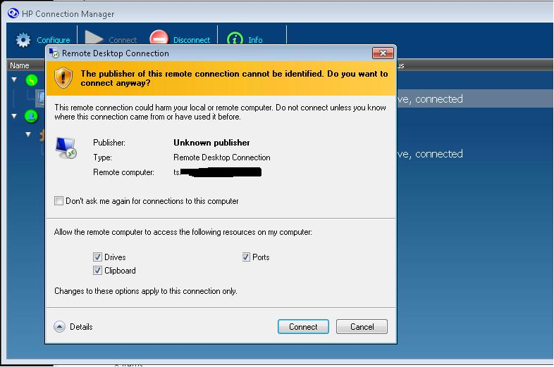 Issues with TS certificate to TS farm DNS name