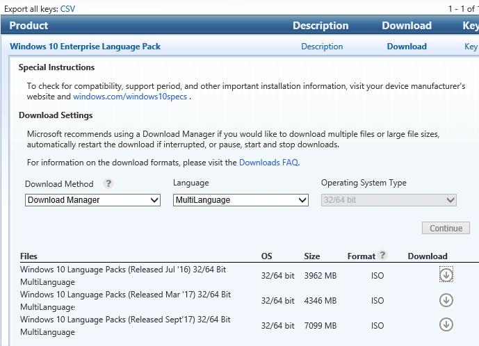 windows 10 french language pack offline download
