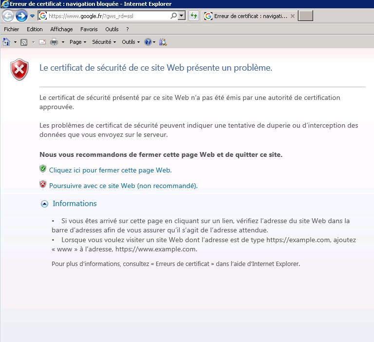 internet explorer server a rencontre un probleme site rencontrer des amis