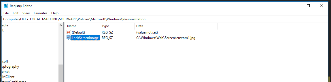 Windows 10 1803 - Custom Login/Lock Screen Image Is Not