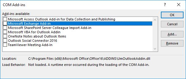 Room Finder missing / not working in Outlook 2016 (Office Pro Plus