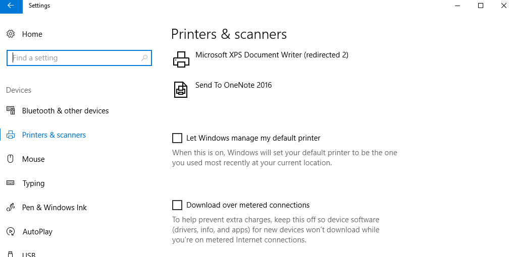 Windows 10 apps don't print in color to a color printer by