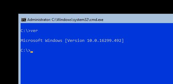 Windows 2016 Server v1709 (Server Core Only)