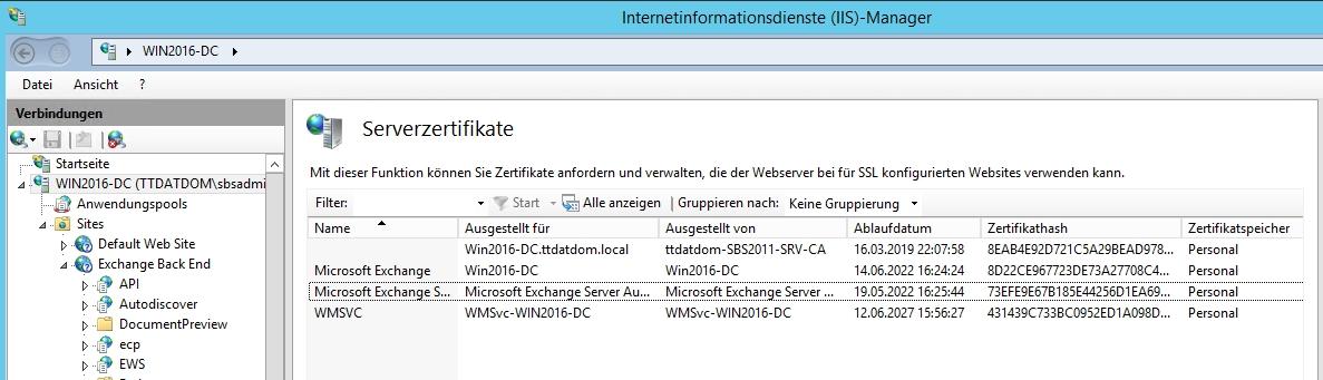 Kein Zugriff auf das Exchange Admin Center mehr (Exchange