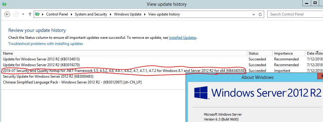 FYI: Update KB4340558 ( Net Framework) broken, causes