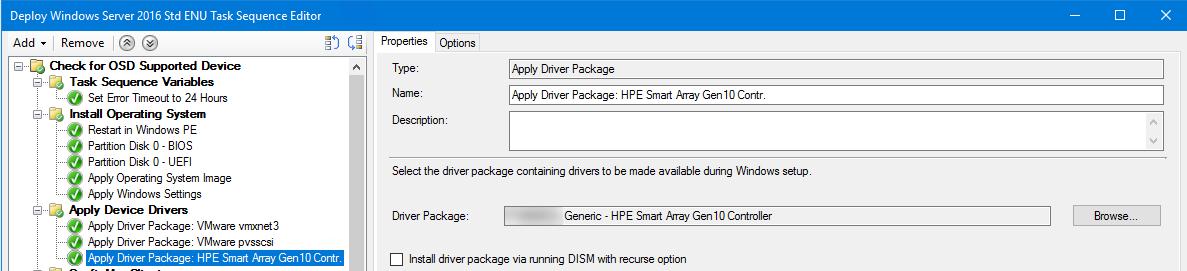 HP Gen10 SCCM OSD results in