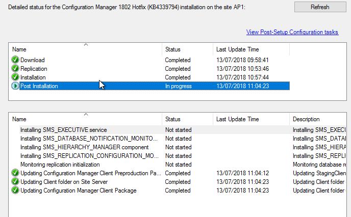 Configuration Manager 1802 HotFix - KB4339794