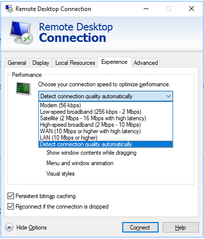 Remote desktop is very slow after update