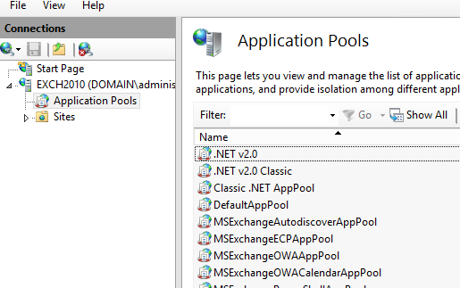 Exchange 2010 OWA search issue