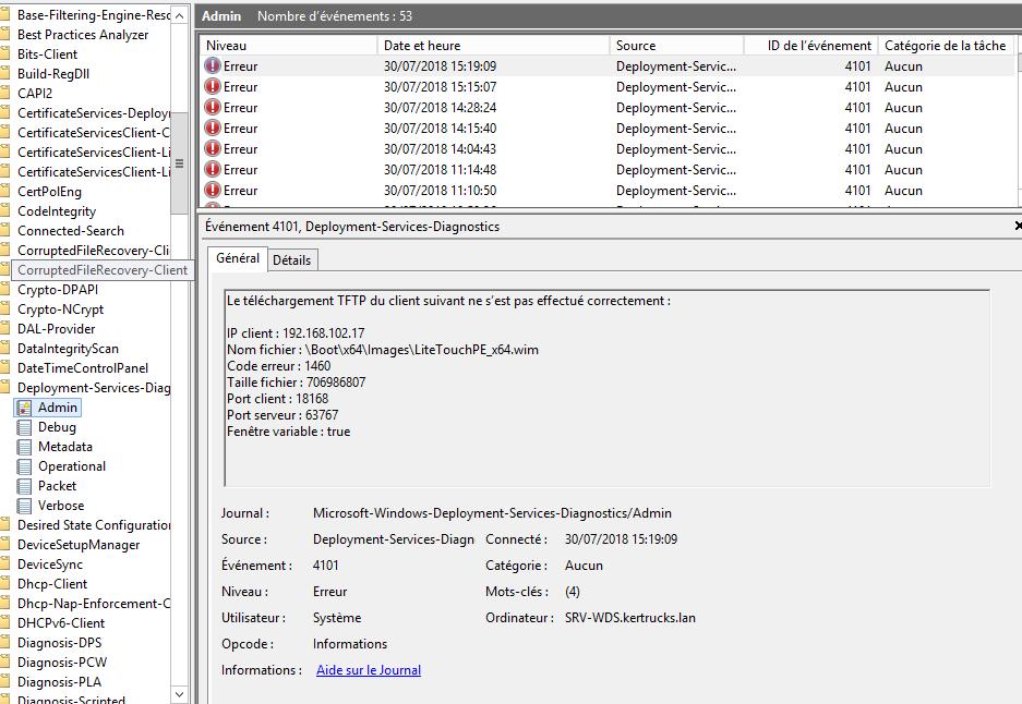 WDS - LitetouchPE_x64 wim - TFTP Timeout