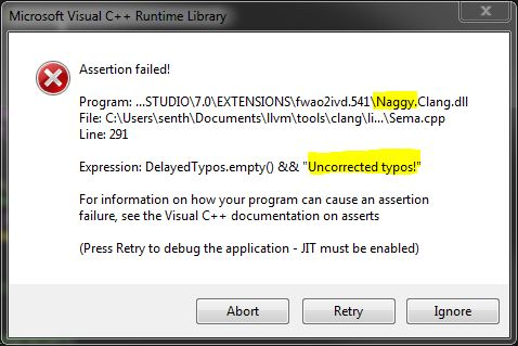 Microsoft Visual C++ Runtime Library Assertion failed!