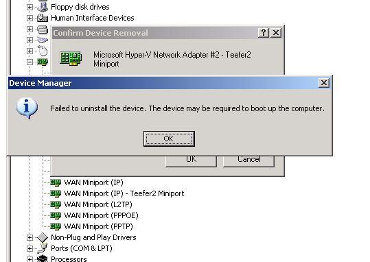 WAN MINIPORT IP TEEFER2 MINIPORT DRIVER PC