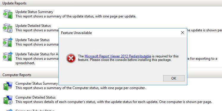 Microsoft Report Viewer 2012 Redistributable For Windows 10