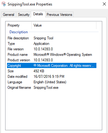 Snipping Tool Windows Server 2012 R2