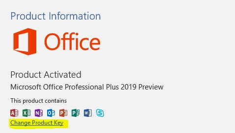 activate office 2019