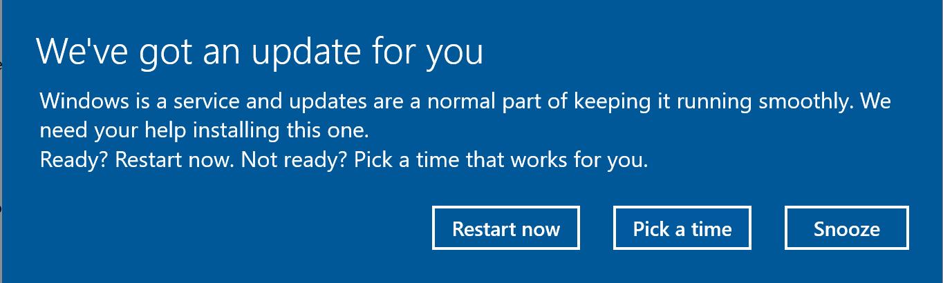 GPO for Windows 10 v1803 Restart notify after installed hotfix