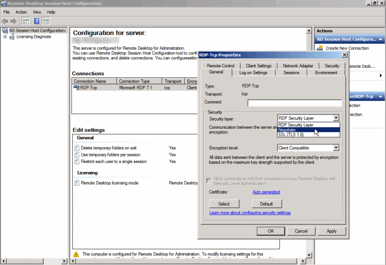 A fatal error occurred while creating an TLS client