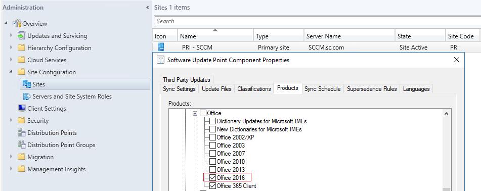 SCCM 2012 Office 365 Software Update error hungs 50%