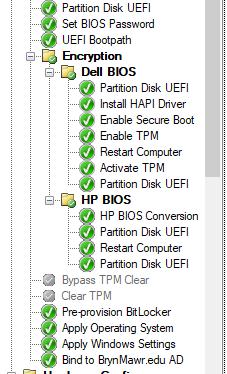 Pre-provision bitlocker step failing
