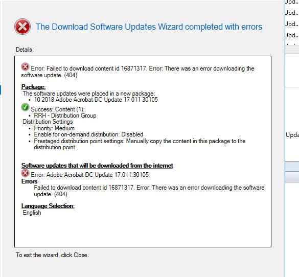Updates Download or Deployment