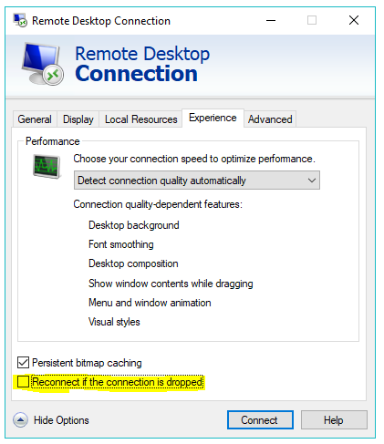 Remote Desktop Issues with 1809