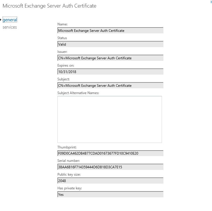 Microsoft Exchange Server Auth Certificate Is Going To Expire