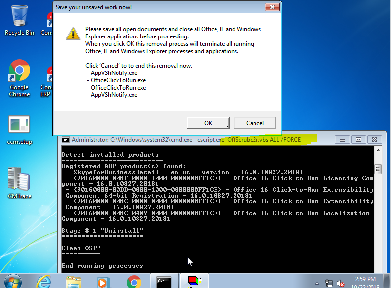 OffScrubc2r vbs need to accept popup