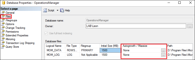 Getting alert - Ops DB free space low