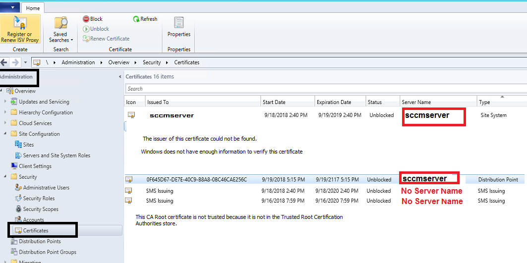 Sccm Fail To Create Sql Server Certificate