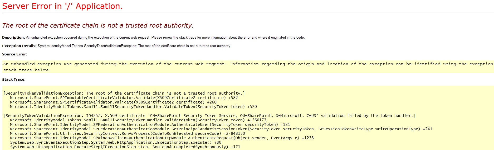 The root of the certificate chain is not a trusted root authority please suggest the suitable solution xflitez Gallery