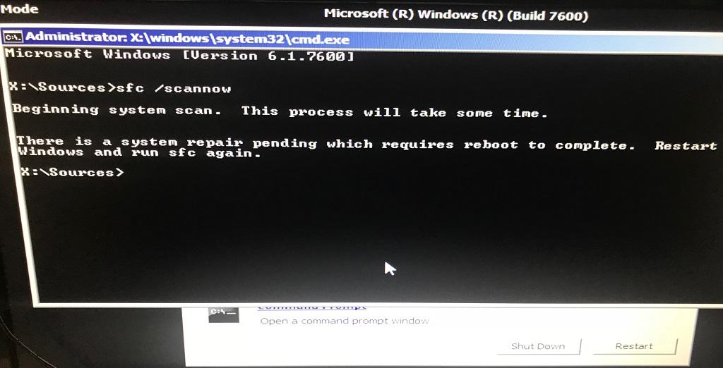Windows Server 2008 R2 Stuck in Installing Updates/Reverting