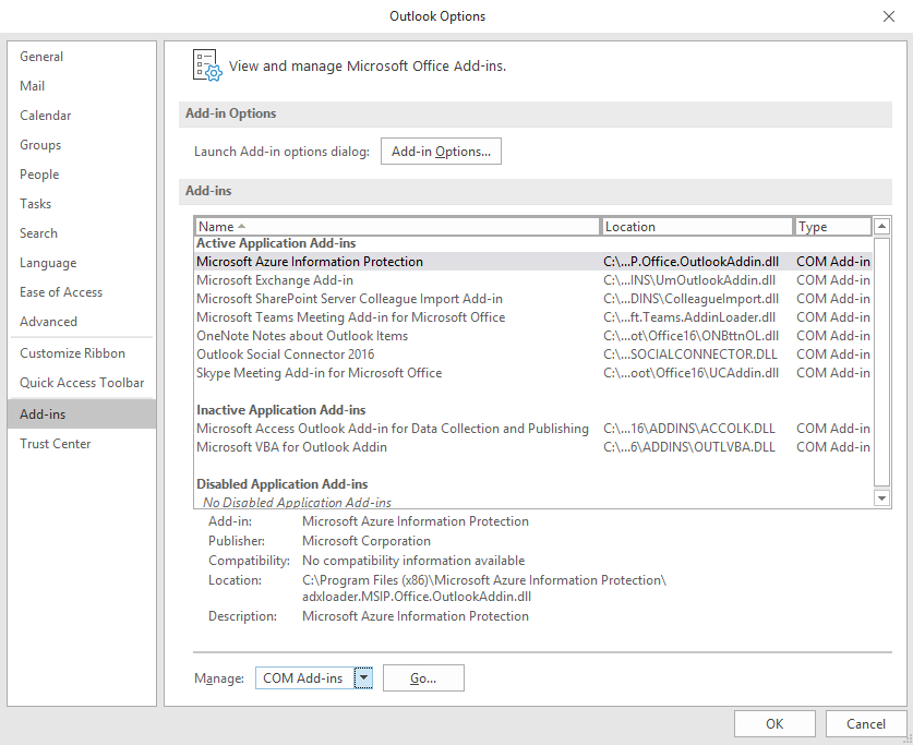 Outlook doesn't display DLP policy tips for PDF attachments