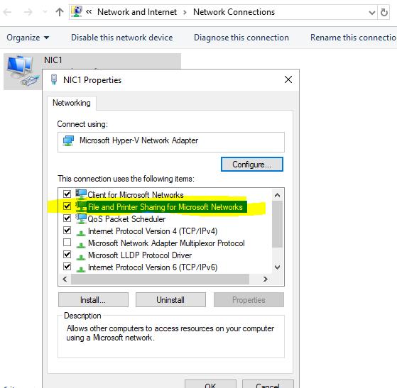Windows Server 2019 SMB Share
