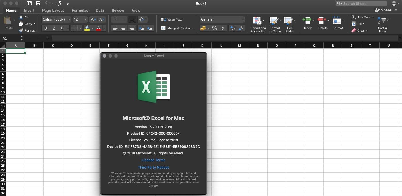Office Mac 2019 (not O365) Ribbon Visual Refresh