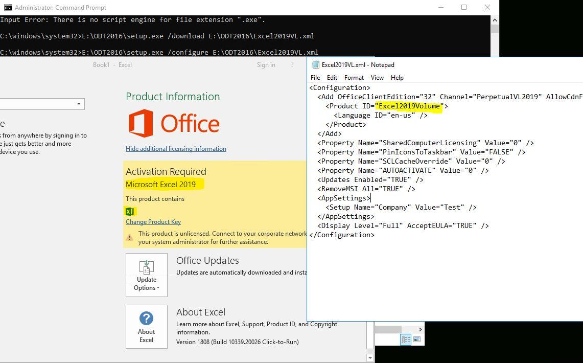 Office 2019 VL MAK not activating