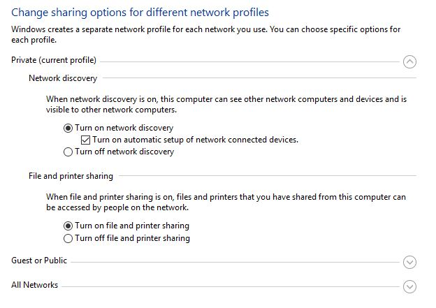cant find pc on network windows 10