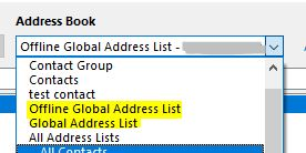 Outlook 2016 crash when trying to search Global Address List