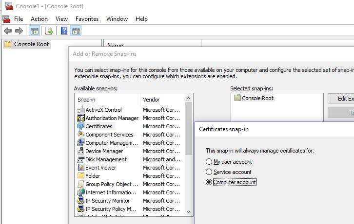 Windows Server 2016 / Windows 10 error: