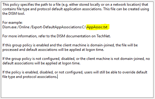Group Policy isnt being applied | Default Association Configuration File