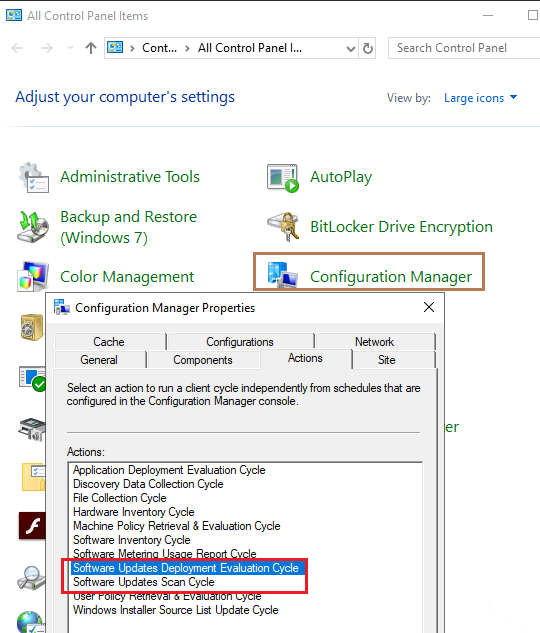 SCCM showing update installed when it isn't