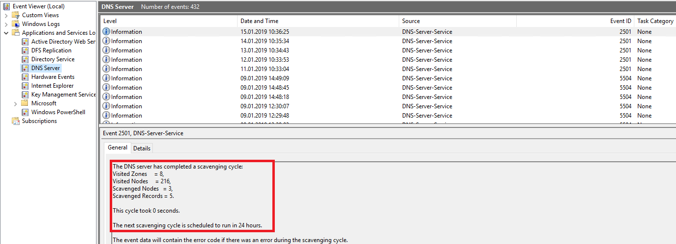 DNS records not scavenging & confirmation box empty
