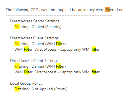 Group Policy not apply for some users