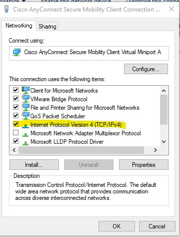Windows 10 1809 - Edge cannot find page when using Cisco