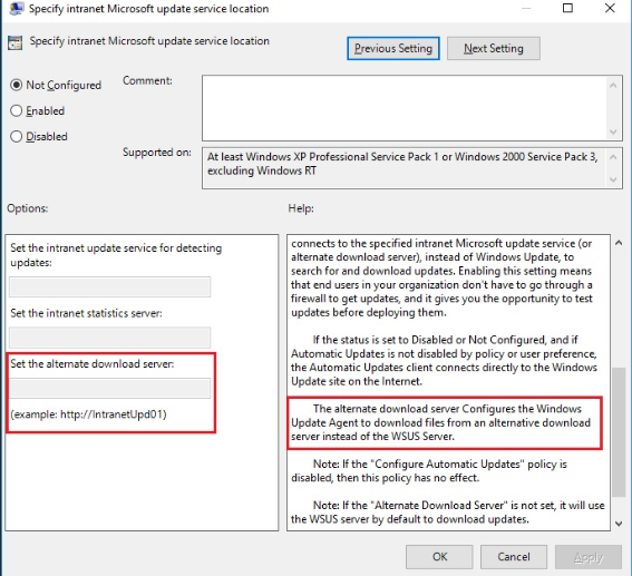 Widnows 10 Clients can not update using Local WSUS server
