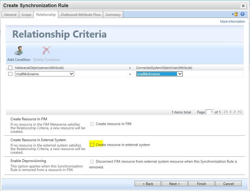 relation ship criteria