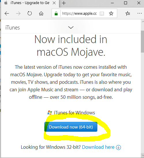 update iTunes without MS account