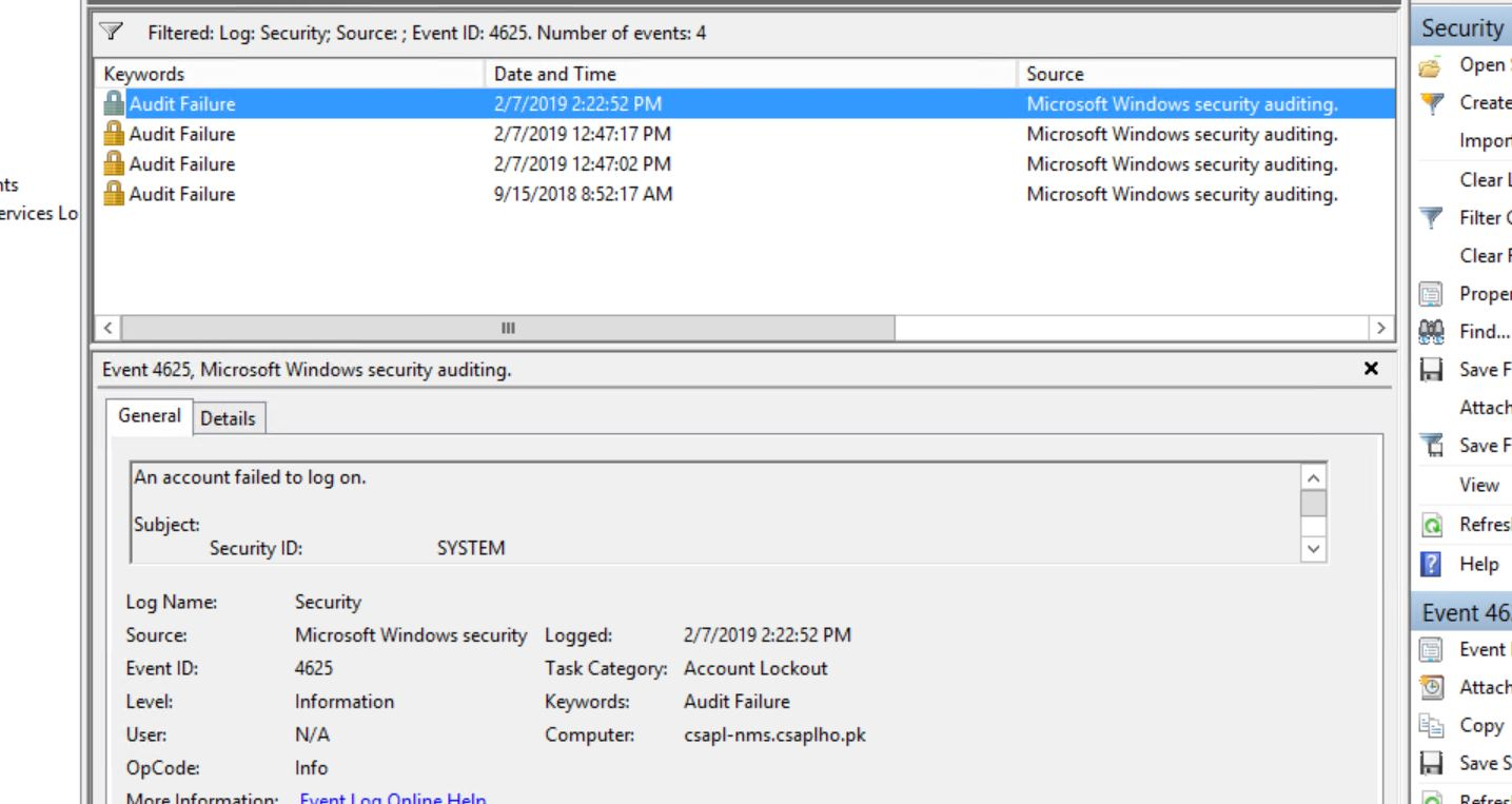 Windows Lockout issue