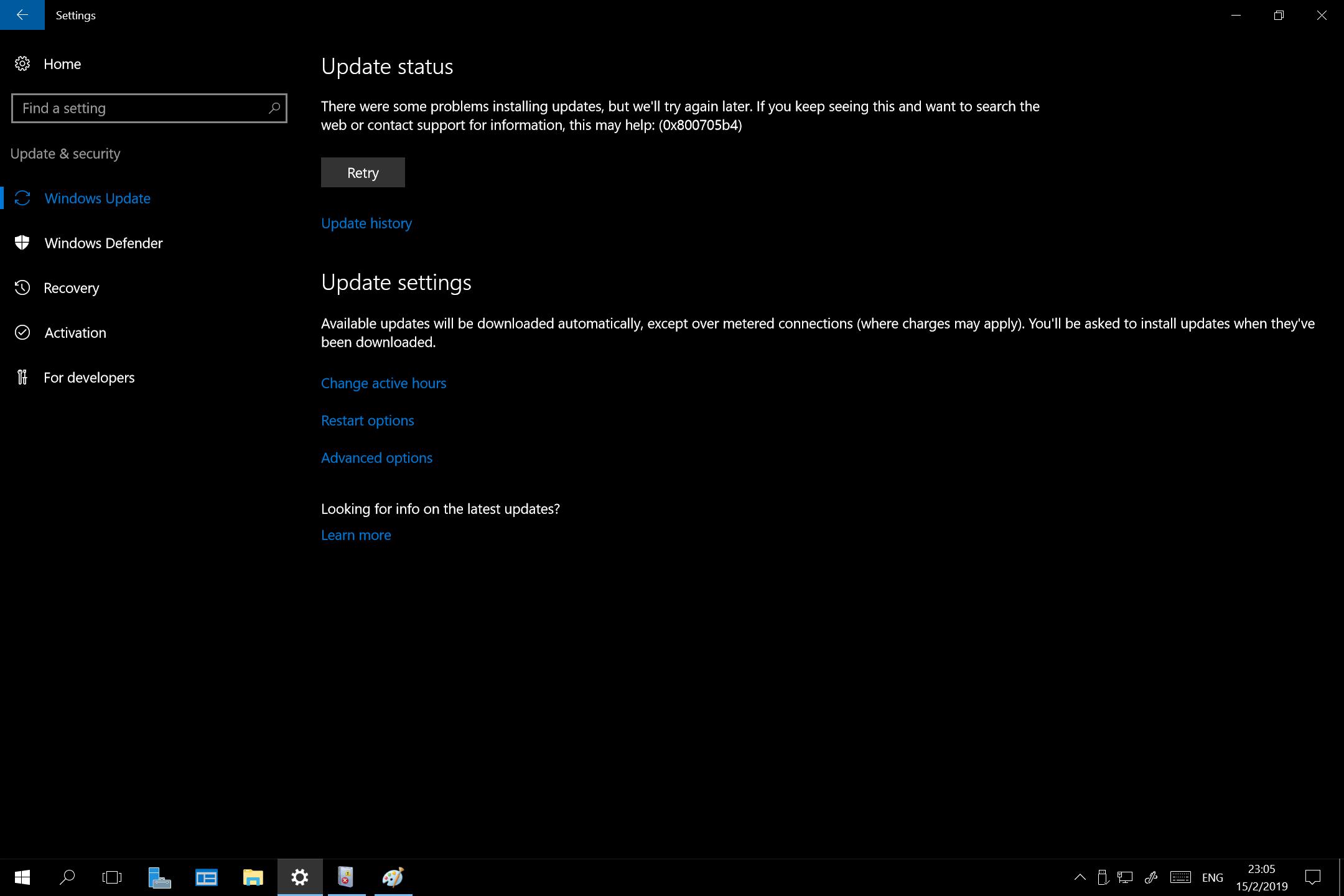 Server 2016 Essentials - Windows Update Stuck