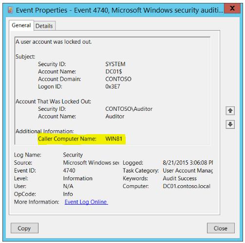Ad Domain Admin Account Lockout