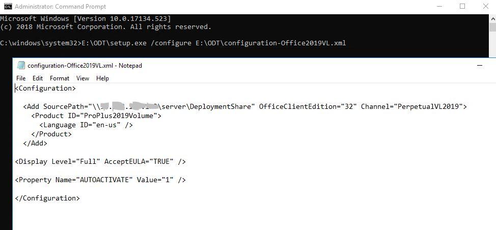 Office 2019 Volume Licensing, Installing software